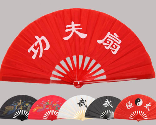Высокое качество китайский традиционный бамбук Taichi вентилятор Боевые искусства Double Dragon кунг-фу вентилятор Бесплатная доставка