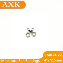 2019 Rushed Top Fashion Smr74zz Bearing Abec-3 (10pcs) 4x7x2.5 Mm Stainless Steel Smr74 Zz Ball Bearings Shielded