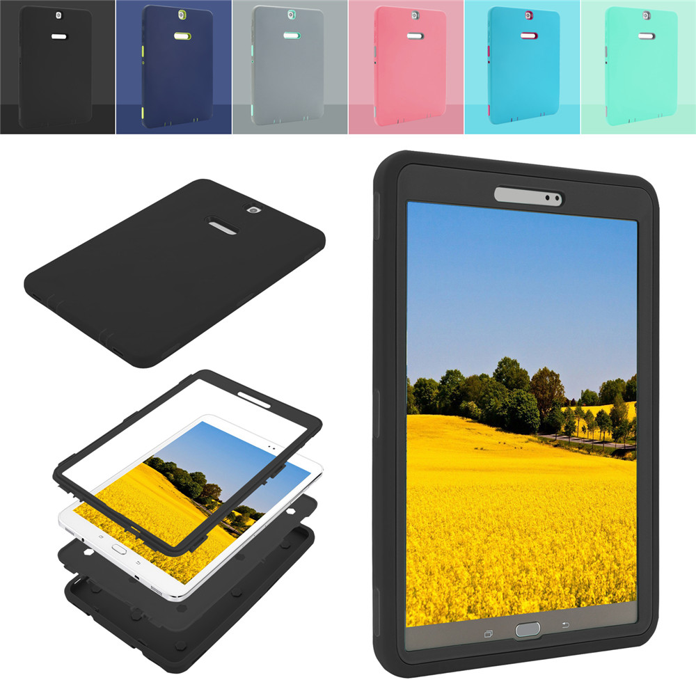 Heavy Duty Tablet Shockproof Case Cover for Samsung Galaxy Tab S2 9.7-inch T810 T15C T813 T819C 360 Degree Protection Hard Case