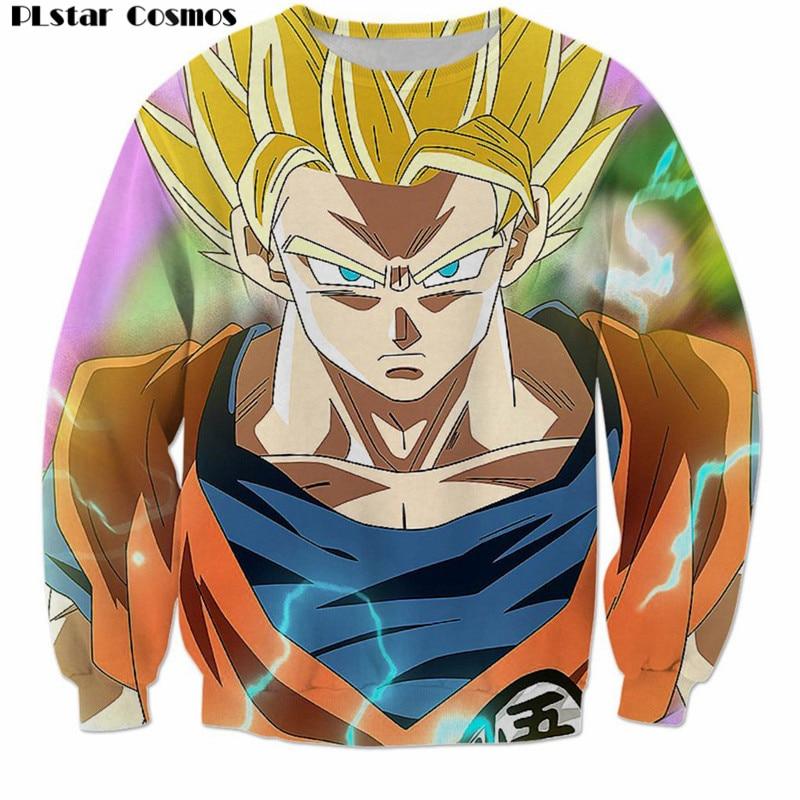 PLstar Cosmos 2018 Anime Dragon Ball Z DBZ Harajuku Men Sweatshirt 3D print Goku Mens Hoodies hip hop pullovers Hipster clothing