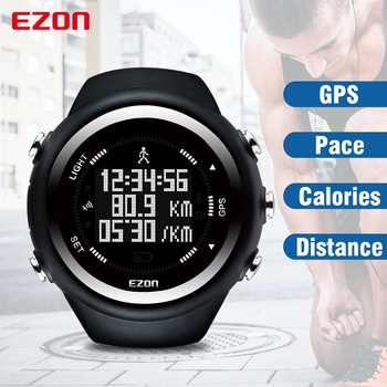 EZON T031 Men Watches Luxury Brand GPS Timing Running Sports Watch Calorie Counter Digital Watches with Distance Pace  Stopwatch