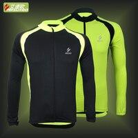 Nueva arsuxeo deportes al aire libre ciclismo mtb bicicleta de la bici de manga larga jersey de primavera verano clothing camisetas del desgaste de la bici jersey