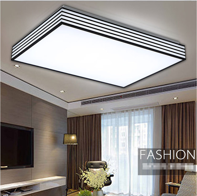 Led acrylic black and white rectangular ceiling lights led ceiling led acrylic black and white rectangular ceiling lights led ceiling light bedroom living room kitchen home mozeypictures Image collections