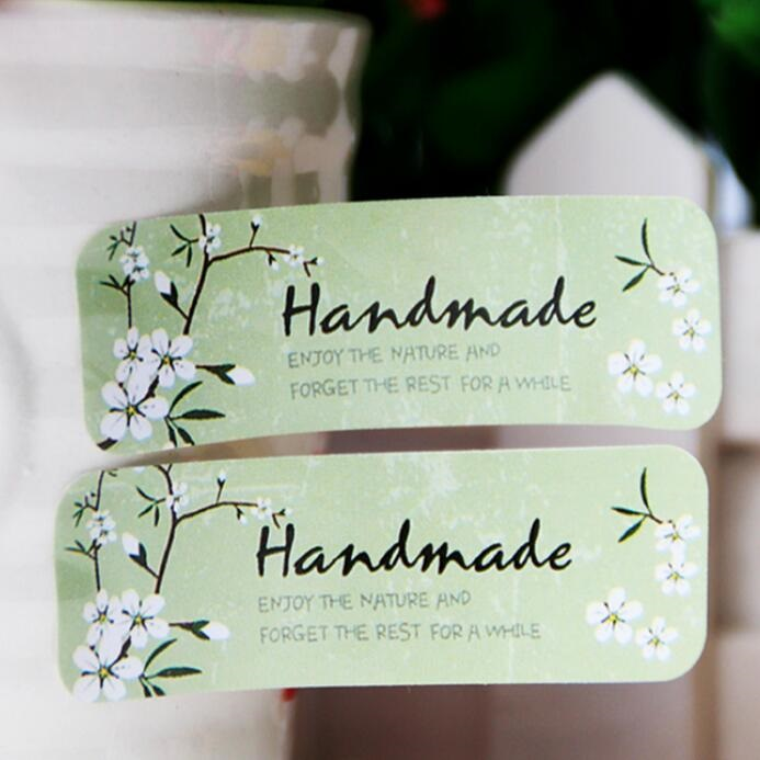 120PCS/lot  Vintage Fresh Style Flower HandMade Seal Sticker High Quality Student DIY Packing Gift Label Sticker