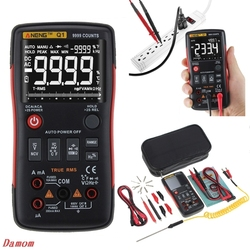 Q1 True-RMS Digital Multimeter Auto Button 9999 Counts Analog Bar Graph Tester