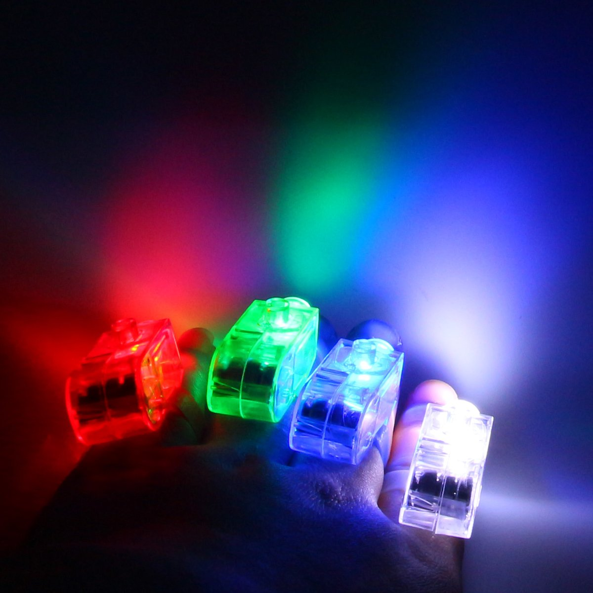 40 in 1 Super Bright Finger Lamp, LED Finger lights, carnival lamp, lighting Music Festival, Party, All Saints, Halloween