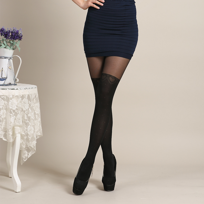 2016 Mosaic Pattern Stockings Sexy Black Sheer Over The -7624