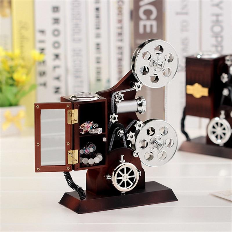 Wedding Music Box Gift: Vintage Plastic Music Box Antique Jewellry Projector Model