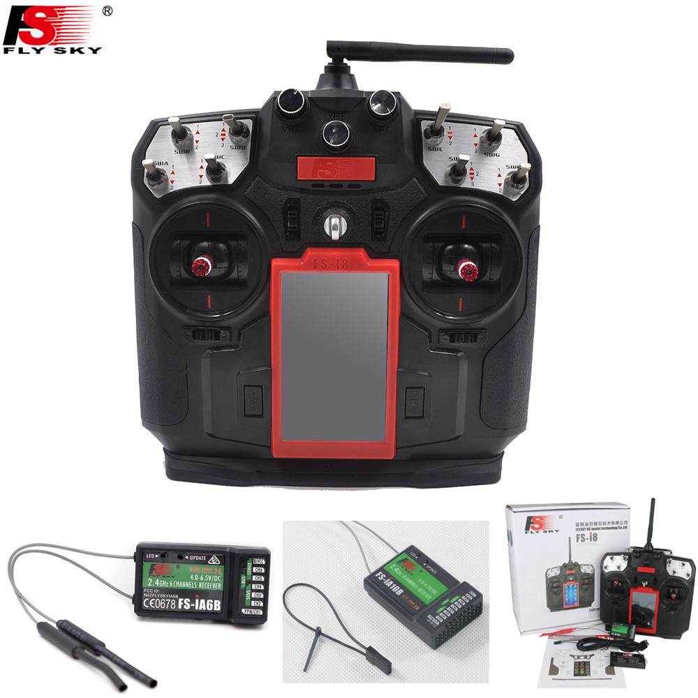 Flysky FS-I8 8 Channel Transmitter with IA6B / IA10B Receiver RC Remote Conroller 2.4G 8CH for  AFT Drone Quadcopter aeromodelling usb analog cable fms simulator for flysky sm100 drone 2 4g rc