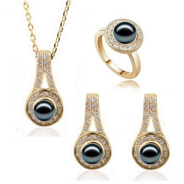 2016 Nuovo Disegno Caldo di Vendita di Modo simulato pearl Jewelry Set Per Le Do