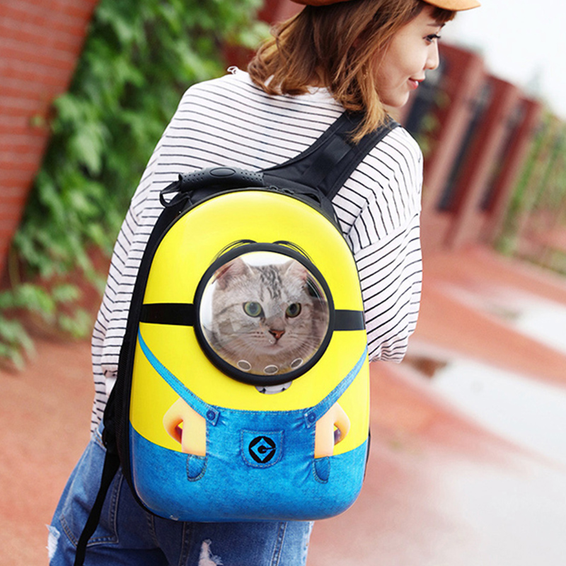 Space Capsule Astronaut Pet Cat Backpack Bubble Window for Kitty Puppy Chihuahua Small Dog Carrier Crate Outdoor Travel Bag Cave