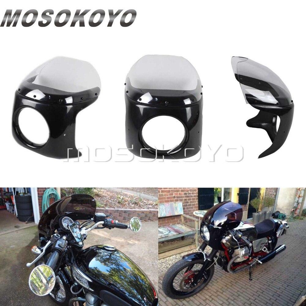 Мотоциклетная прозрачная 7 круглая фара обтекатель Ретро головной свет маска для Harley Chopper Cafe Racer Bobber