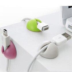 5Pcs Sólido Conjunto de Mesa de Escritório Organizador Clipe Fio Acessórios Bobina Enrolador de Cabo Envoltório Gerente Cabo para Teclado e Mouse USB linhas