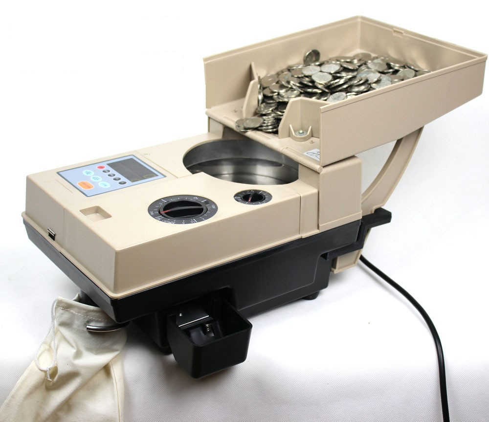 Trieur automatique de pièces de monnaie compteur de pièces de monnaie compteur de billets de banque toutes les pièces du monde sont applicables