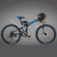 K660 High carbon Steel Frame, 21 Speeds, 26 inches, 36/48V 240W, Folding Electric Bicycle, Disc Brake, E Bike