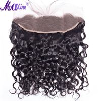 Maxien hair 13x4 Lace Frontal Brazilian Water Wave Ear to Ear Pre Plucked Frontal Closure With Baby Hair 100% Remy Human Hair
