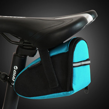 все цены на Bike Bag Waterproof Bicycle Bags Rear Back Tail Saddle Bag Cycling Rear Seatpost Bag 600D Nylon Reflective Strip Riding Poket онлайн