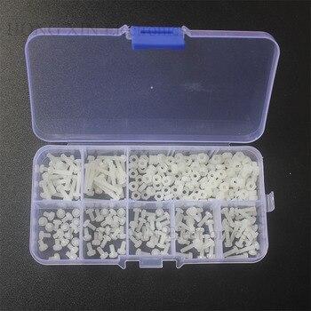 280PCS/Set Metric M2.5 Assortment Nylon Screws Bolt Nuts Fastener White Plastic Nylon Screw Nut Set 7 Sizes HOT
