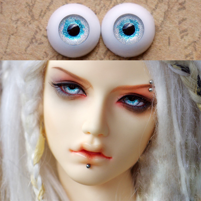 Bjd Eyes Blue sea cloud color  eyeball for 1/3  1/4 1/6 SD Dolls 10mm 12mm 14mm 16mm 18mm 20mm 22mm Acrylic EYEs for toys A pair 1 3 1 4 1 6 1 8 1 12 bjd wigs fashion light gray fur wig bjd sd short wig for diy dollfie