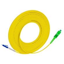 лучшая цена Fiber Optic Patchcord LC UPC to SC APC 2M G657A Fiber Patch Cable PVC SM Jumper Cable Ftth Fiber Optic Simplex 2.0mm PVC Cable