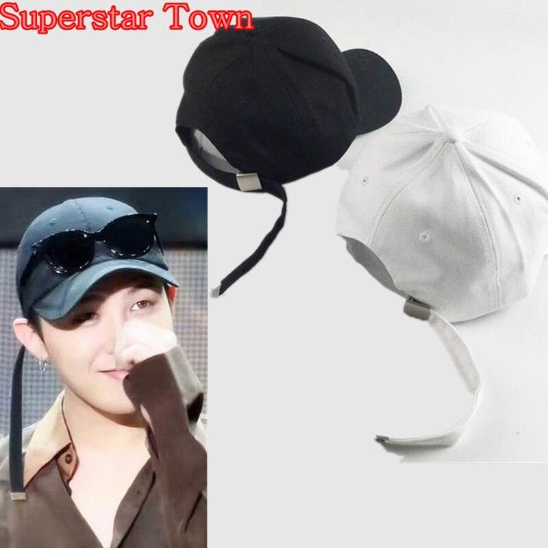 Prix pour GD G dragon Peachminusone Pur Noir Blanc Casquette de baseball Unisexe Snapback Chapeau