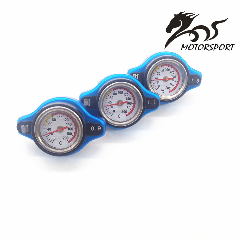Stormcar - D1 Spec RACING Thermost Radiator Cap COVER + Water Temp gauge 0.9bar/1.1bar/1.3bar cover  (small size)
