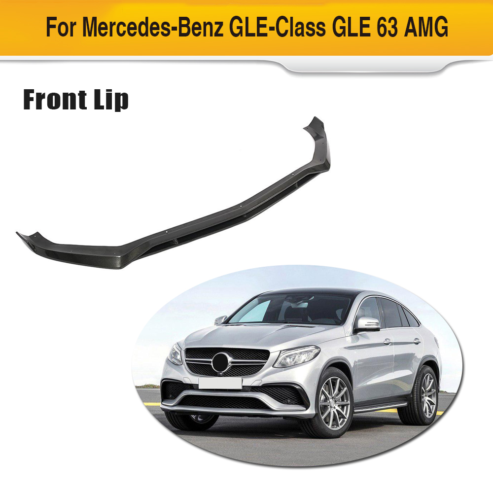 For Mercedes-Benz GLE Class CLE63 AMG 2015 - 2018 Carbon Fiber Front Bumper Lip Spoiler Splitters