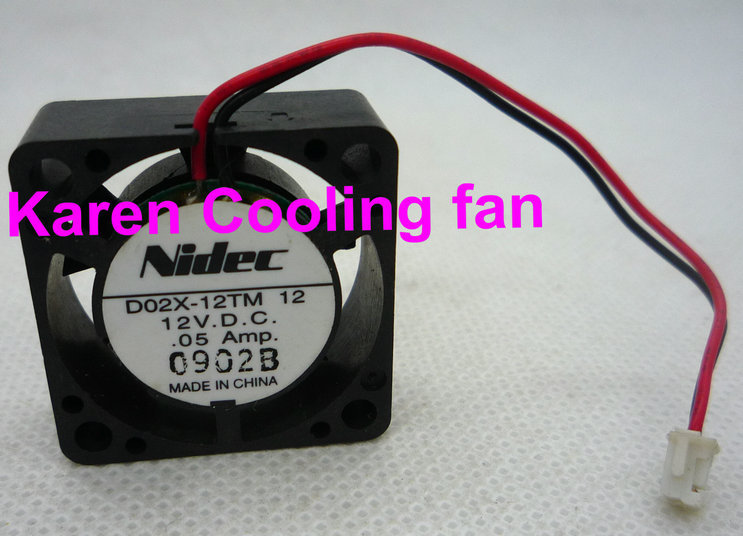 Купить с кэшбэком New Original Nidec D02X-12TS2 DC12V 0.04A 25*25*10MM 2.5 cm mute miniature cooling fan D02X-12TM 12 0.05a