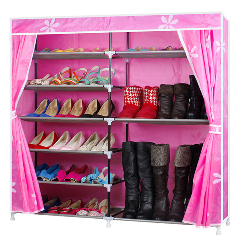 Fashion Modern Simple Oxford Cloth Double Rows Shoes Shelf DIY Shoes Organizer Shoes Rack Shoes Storage Cabinet Home FurnitureFashion Modern Simple Oxford Cloth Double Rows Shoes Shelf DIY Shoes Organizer Shoes Rack Shoes Storage Cabinet Home Furniture
