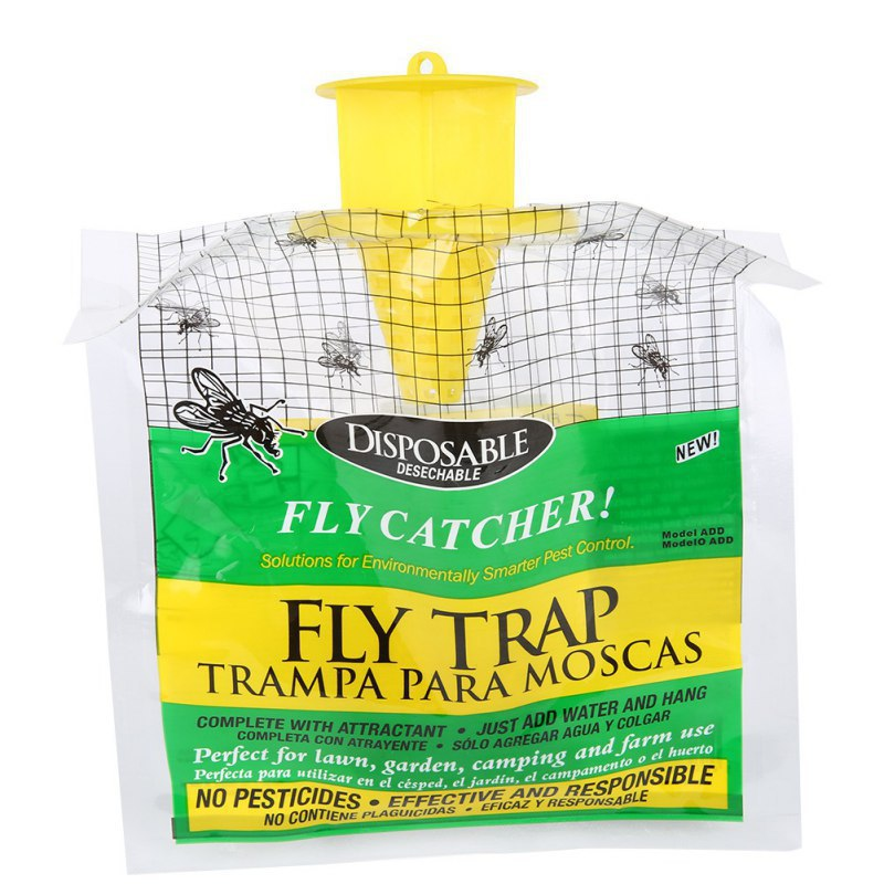 Fly Trap Catcher Bug Mosquito Killer Moth Insect Killer Pest Control Products Disposable Plastic Hanging Bait Bag