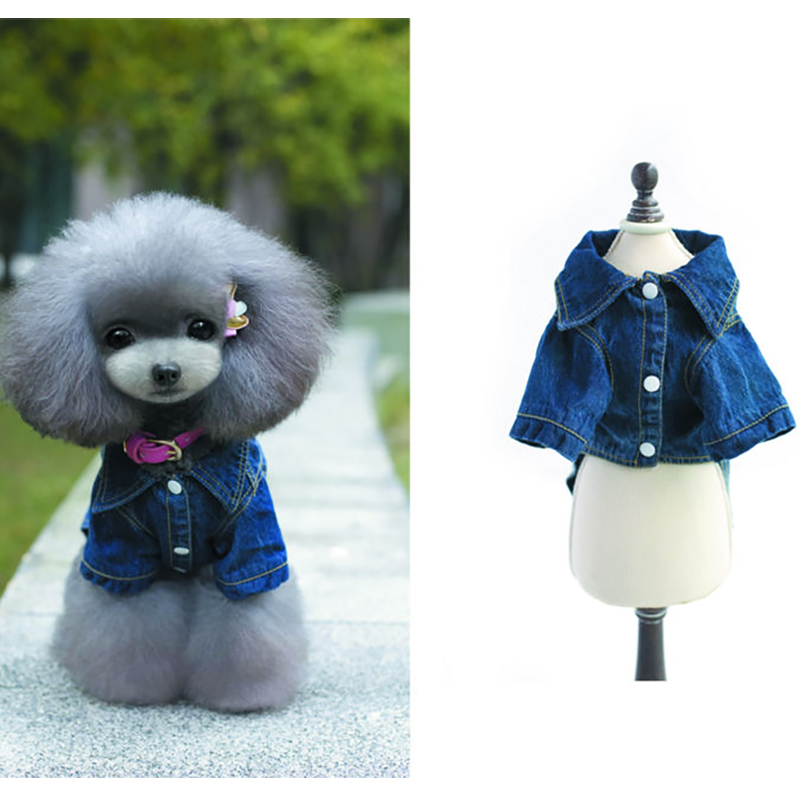Lovoyager Dog Coats & Jackets Size XS/S/M/L/XL/XXL Denim Jean of Dog Clothes Spring / Summer for Dog Life jacket Dogs Coat
