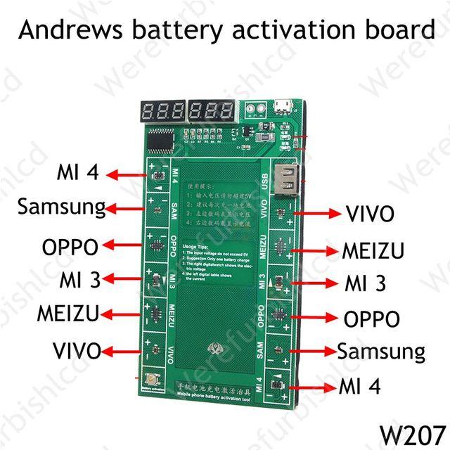 Android телефон Профессиональный Активации Батареи Плата PCB Платы с USB Кабелем для OPPO VIVO MEIZU Samsung xiaomi Цепи Тестер