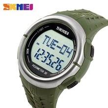 Countdown Relojes Digitales SKMEI Hombres Deportes Relojes Podómetro Del Ritmo Cardíaco Monitor de Las Calorías Del Relogio masculino 1058