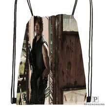 Custom Daryl-Dixon-The-Walking-Dead@02- Drawstring Backpack Bag Cute Daypack Kids Satchel (Black Back) 31x40cm#180611-01-41