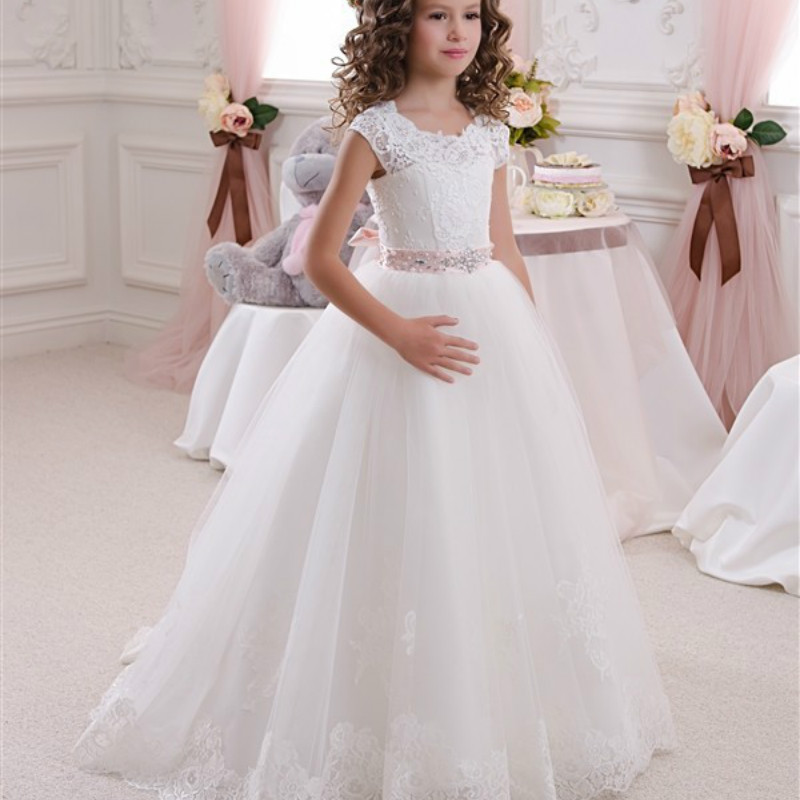Baby Girl Clothing Dress Lace Bow Kids Girls Backless Tutu Dresses Child Flower Girl Wedding Princess Dress Vestidos GDR409 цены