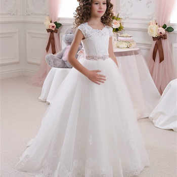 Baby Girl Clothing Dress Lace Bow Kids Girls Backless Tutu Dresses Child Flower Girl Wedding Princess Dress Vestidos GDR409 - DISCOUNT ITEM  40% OFF All Category