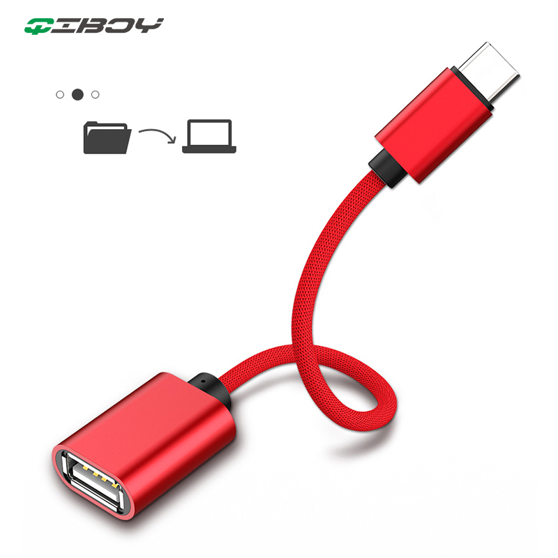 OTG Type-C USB C Adapter Micro USB Female To Type C Male Converter For TypeC Phone Tablets Charge Data Otg Devices USBC Splitter