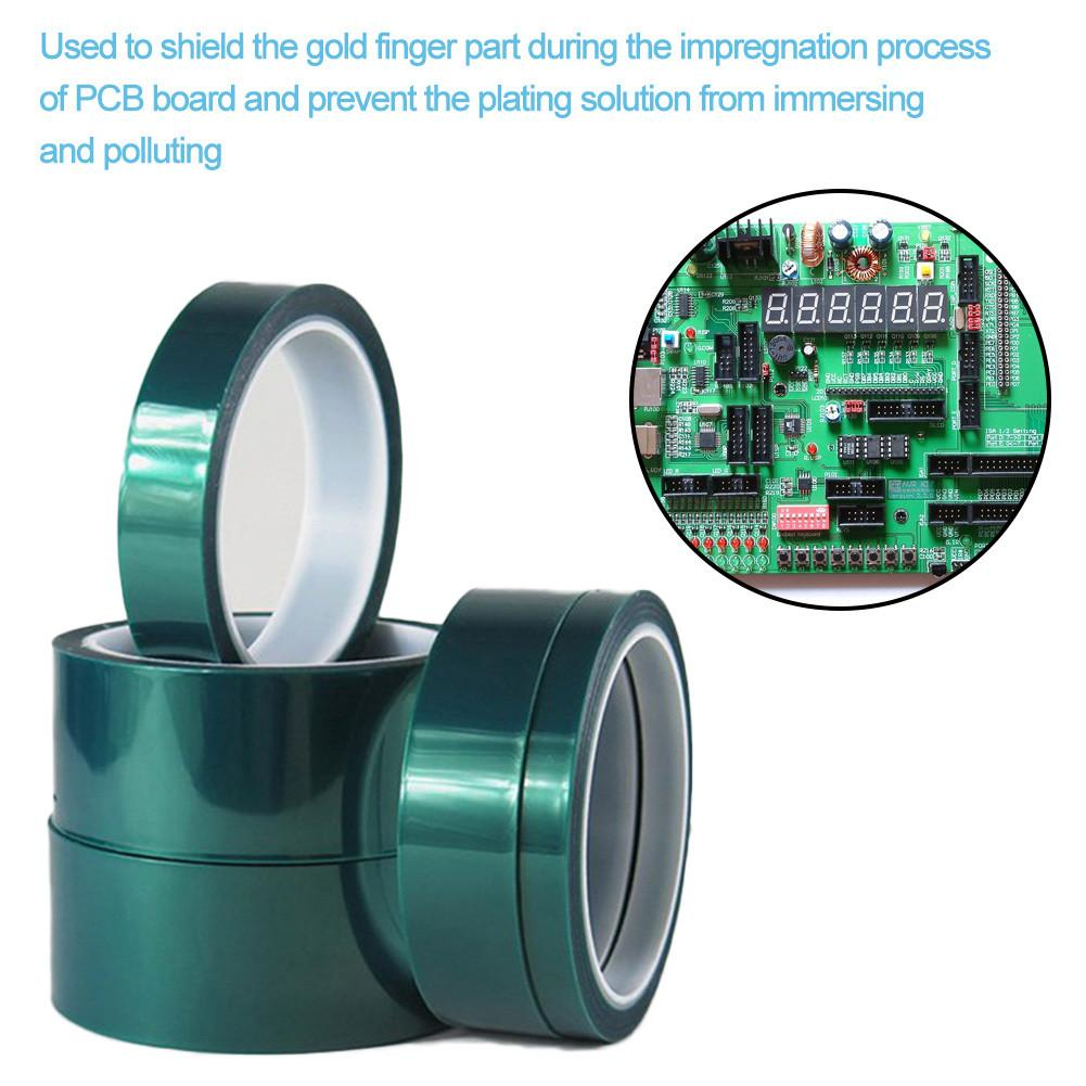 Green Pet Tape High Temperature Heat-resistant PET Adhesive Paper Shielding Tape For PCB Solder Plating Insulation Protection