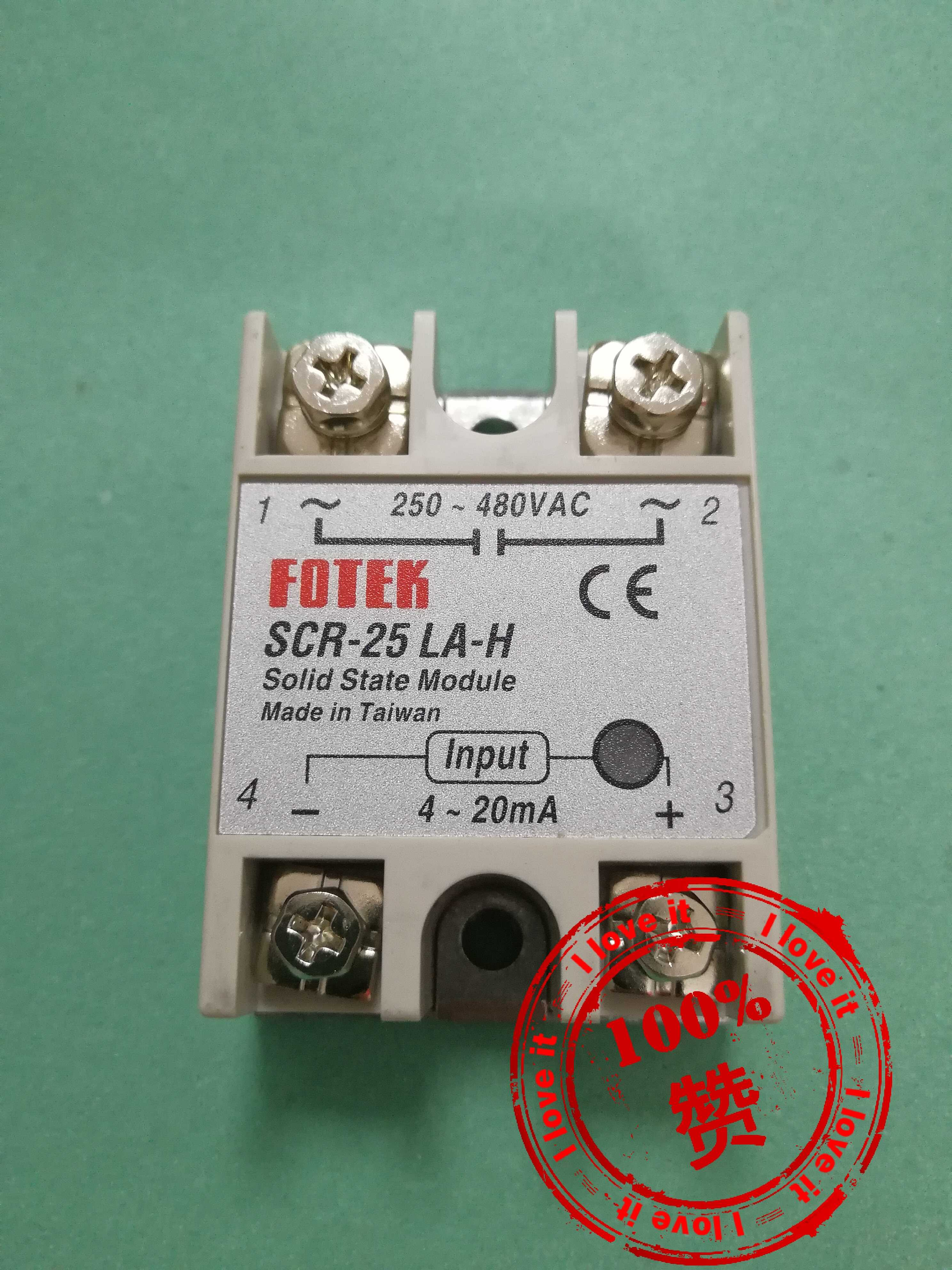New Imported Solid State Relay Voltage Regulating Module 4-20mA SCR-25LA-H
