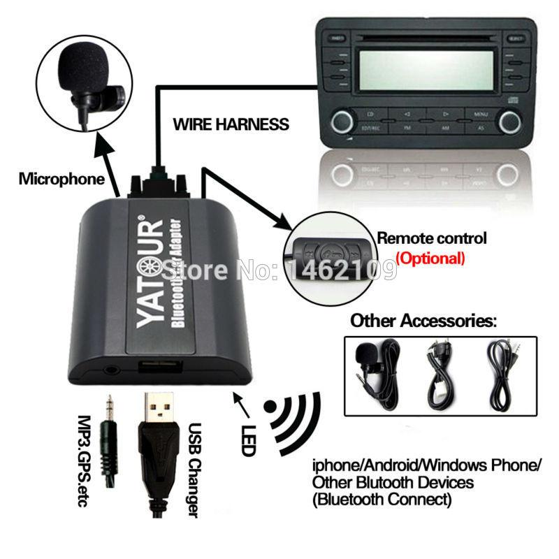 Yatour Bluetooth Car Adapter Digital Digital CD Changer Switch - Ավտոմեքենաների էլեկտրոնիկա - Լուսանկար 2