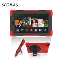 SCOMAS Fashion Pirate King Stand Bracket Tablet PC Case for Amazon Kindle Fire 7 inch Drop Resistance Cover Protective Holder