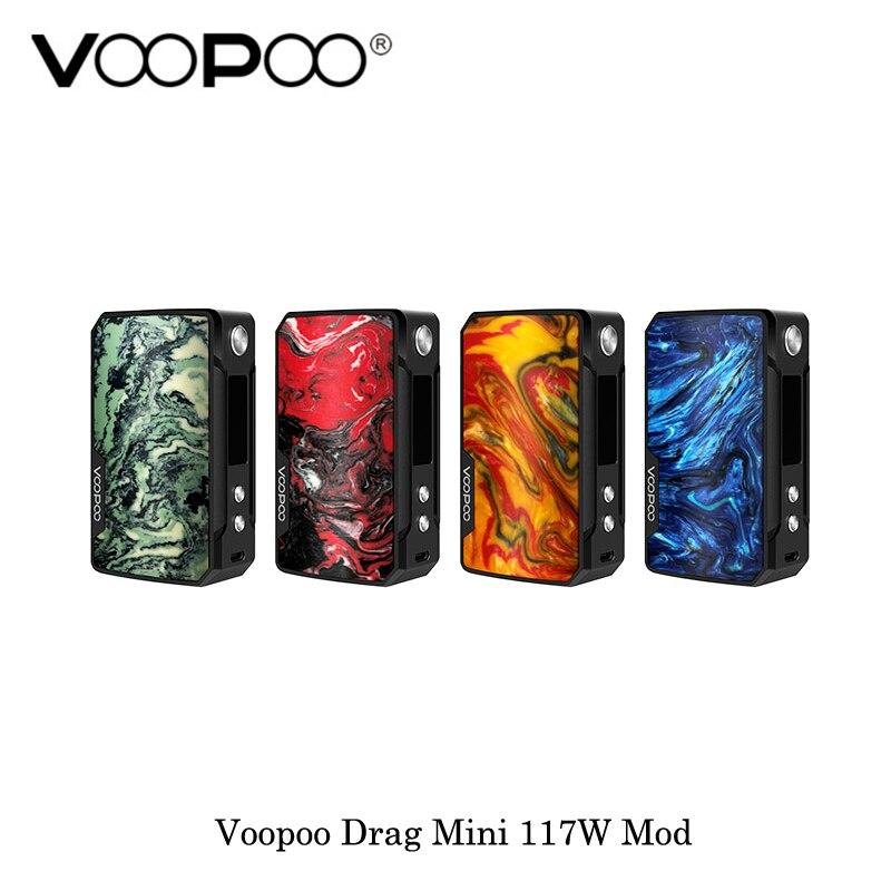 En stock électronique cigarettes Voopoo Glisser Mini 117 W boîte de tc Mod 4400 mAh batterie intégrée Vaporisateur Vaporisateur VS Voopoo Glisser 2 Mod boîte