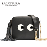 Women Messenger Bags Handbags Women Famous Genuine 2016 Small Size Shoulder Bags Women Leather Handbags Eyes