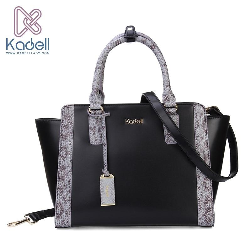 ФОТО Kadell PU Leather Shoulder Bag Fashion Trapeze Women Messenger Bags Handbag Women Famous Brands Crossbody Bags For Women