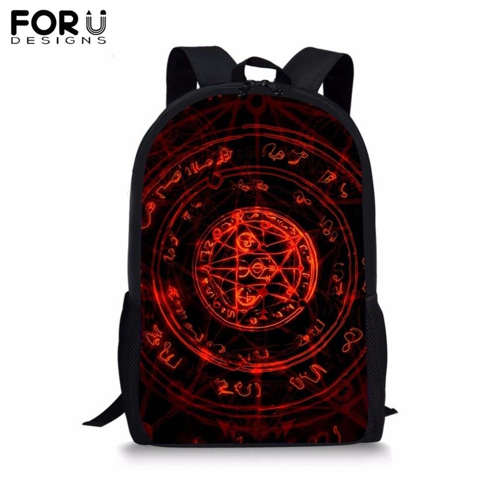FORUDESIGNS New Arrival Magic Array School Bag for Boy Girls Cool Circle Print Backpack Children Teenagers Student Bookbag