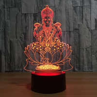 Buddha 7 Color Changing Night Lamp 3D Atmosphere Bulbing Light 3D Visual illusion LED Lamp for kids toy Christmas Birthday gifts