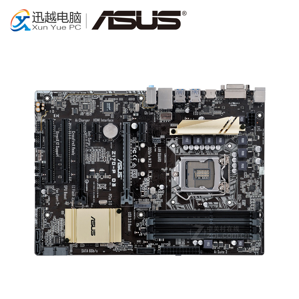 Asus Z170-P D3 Desktop Motherboard Z170 Socket LGA 1151 i7 i5 i3 DDR3 32G SATA3 USB3.0 ATX