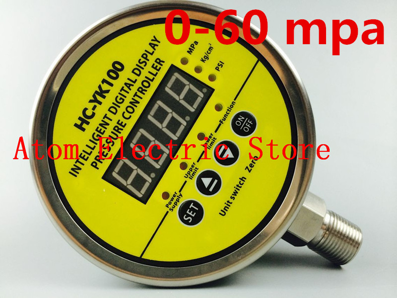0-60 mpa  AC220V  Digital display electric contact pressure gauge digital controller 0 16 mpa ac220v digital display electric contact pressure gauge digital controller