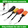 Gopro hero 4 3 3 + cámara sumergible bobber flotante mano correa para la muñeca para powershot d20 d30 mini videocámara sj4000 accesorios
