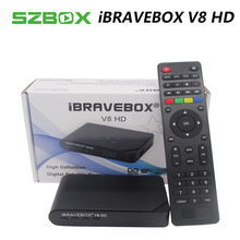 iBRAVEBOX V8 HD DVB-S/S2 Satellite TV Receiver Decoder 1080PFull HD support Clines Italy Spain Arabic CCCam via USB Wifi antenna
